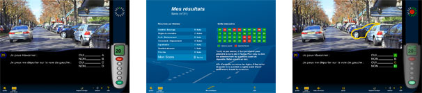 Test code de la route : mode examen